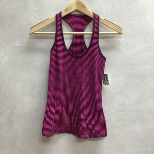 Primary Photo - BRAND: LULULEMON STYLE: ATHLETIC TANK TOP COLOR: STRIPED SIZE: 2 SKU: 194-194197-13759