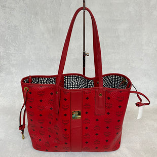 Primary Photo - BRAND: MCM STYLE: HANDBAG DESIGNER COLOR: RED SIZE: MEDIUM OTHER INFO: AS IS. 14 X 6 X 11 INCHESSKU: 194-194167-33201.
