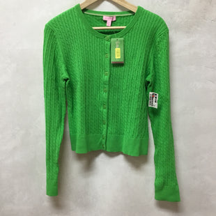 Primary Photo - BRAND: LILLY PULITZER STYLE: SWEATER CARDIGAN LIGHTWEIGHT COLOR: GREEN SIZE: XL OTHER INFO: NEW! SKU: 194-194183-22241