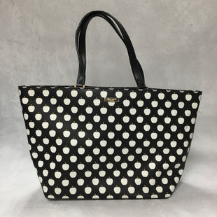 Primary Photo - BRAND: KATE SPADE STYLE: HANDBAG DESIGNER COLOR: BLACK WHITE SIZE: LARGE OTHER INFO: APPLES SKU: 194-194220-546312.75X11.75X6