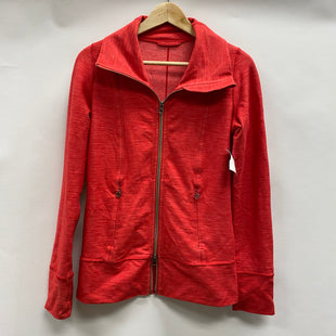 Primary Photo - BRAND: LULULEMON STYLE: ATHLETIC JACKET COLOR: RED SIZE: 4 OTHER INFO: AS IS- SMALL HOLE IN INNER POCKETSKU: 194-194183-26001