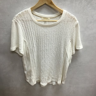 Primary Photo - BRAND: ANTHROPOLOGIE STYLE: TOP SHORT SLEEVE COLOR: WHITE SIZE: L SKU: 194-194197-13149
