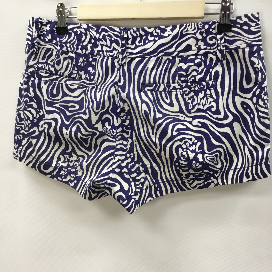 Photo #1 - BRAND: LILLY PULITZER <BR>STYLE: SHORTS <BR>COLOR: WHITE BLUE <BR>SIZE: 6 <BR>SKU: 194-194183-19407