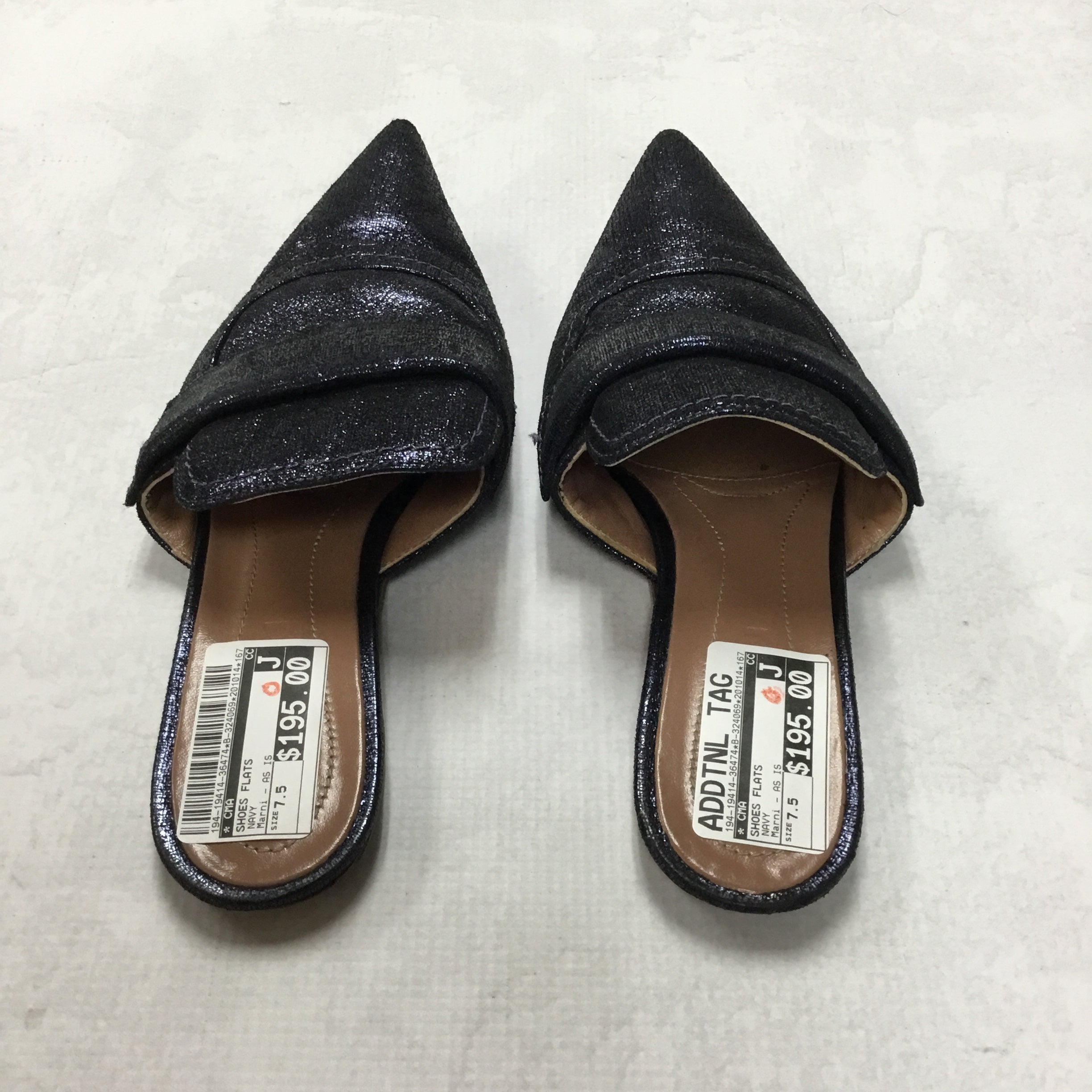 Photo #2 - BRAND:  CMA <BR>STYLE: SHOES FLATS <BR>COLOR: NAVY <BR>SIZE: 7.5 <BR>OTHER INFO: MARNI - AS IS <BR>SKU: 194-19414-36474