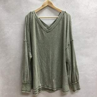 Primary Photo - BRAND: SHE + SKY STYLE: TOP LONG SLEEVE COLOR: OLIVE SIZE: 2X SKU: 194-194197-13884