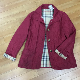 Primary Photo - BRAND: BURBERRY STYLE: COAT SHORT COLOR: MAROON SIZE: M SKU: 194-194231-2604AS IS