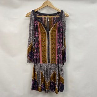 Primary Photo - BRAND: FREE PEOPLE STYLE: DRESS SHORT LONG SLEEVE COLOR: MULTI SIZE: S SKU: 194-194237-1025