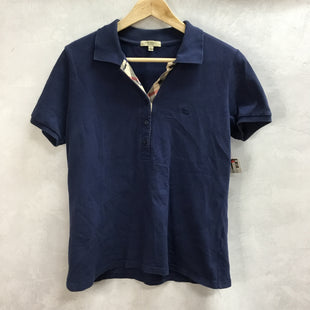 Primary Photo - BRAND: BURBERRY STYLE: TOP SHORT SLEEVE COLOR: NAVY SIZE: XL (ON TAG)SKU: 194-194194-7605. FITS CLOSER TO A MEDIUM/LARGE.