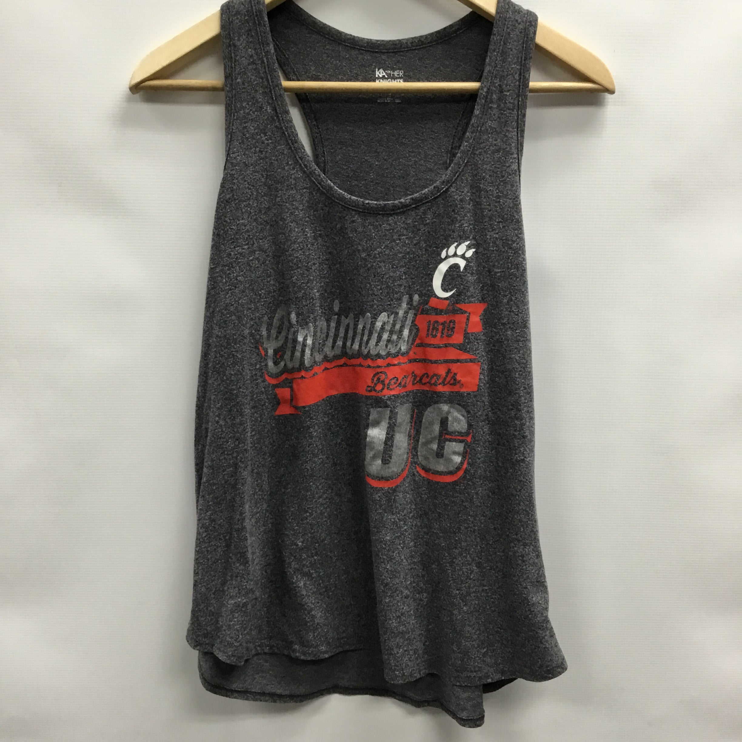 Primary Photo - BRAND:   CMC <BR>STYLE: ATHLETIC TANK TOP <BR>COLOR: GREY <BR>SIZE: XL <BR>OTHER INFO: KNIGHTS APPAREL - U CINCINNATI <BR>SKU: 194-194234-982