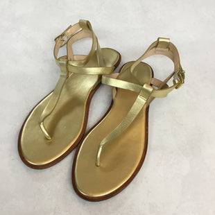 Primary Photo - BRAND: BANANA REPUBLIC STYLE: SANDALS FLAT COLOR: GOLD SIZE: 9 SKU: 194-194225-3143