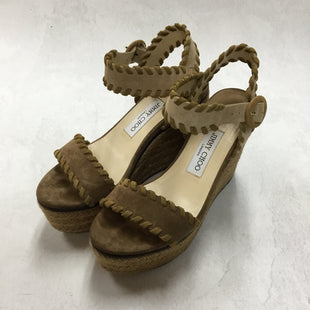 Primary Photo - BRAND: JIMMY CHOO STYLE: SANDALS HIGH COLOR: BROWN SIZE: 8 OTHER INFO: AS IS- ABIGAIL 100 SKU: 194-19414-39951