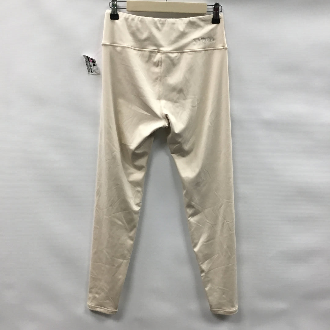 Photo #1 - BRAND:    CLOTHES MENTOR <BR>STYLE: ATHLETIC PANTS <BR>COLOR: CREAM <BR>SIZE: M <BR>OTHER INFO: KITTENISH - <BR>SKU: 194-194224-654