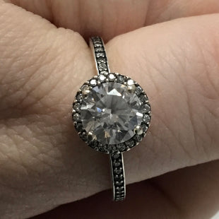 Primary Photo - BRAND: PANDORA STYLE: RING COLOR: SILVER OTHER INFO: ROUND SPARKLE HALO SKU: 194-194220-3971