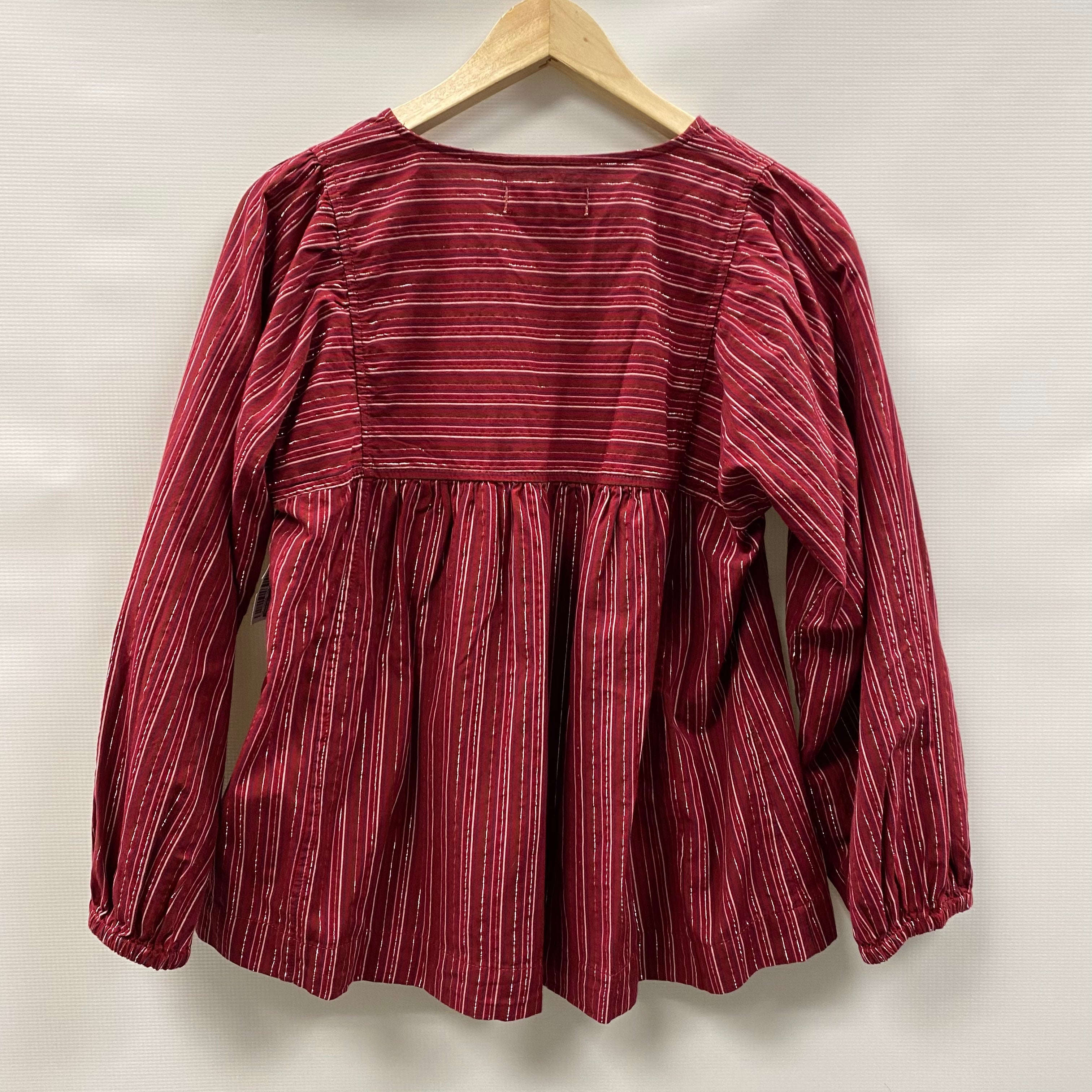 Photo #1 - BRAND: MADEWELL <BR>STYLE: TOP LONG SLEEVE <BR>COLOR: RED <BR>SIZE: S <BR>SKU: 194-194236-1328