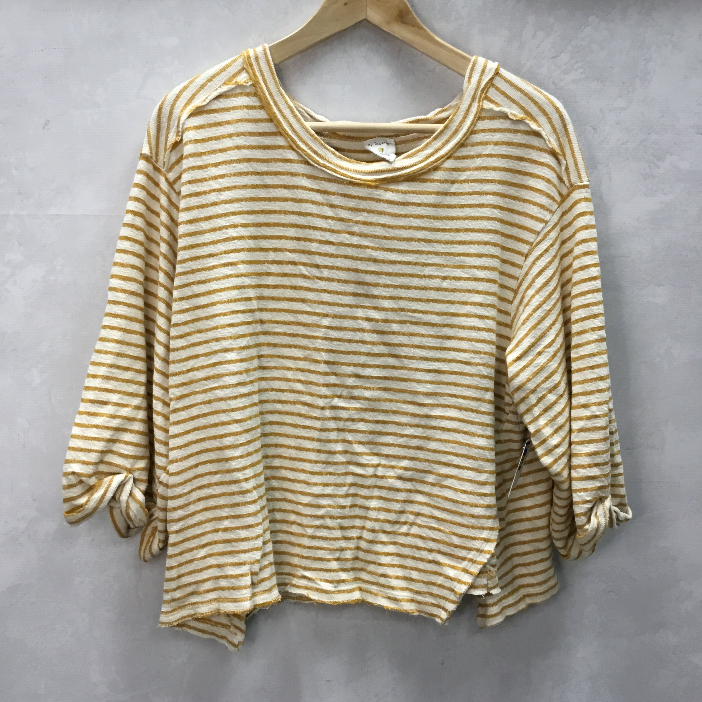 Primary Photo - BRAND: BY TOGETHER <BR>STYLE: TOP SHORT SLEEVE <BR>COLOR: STRIPED <BR>SIZE: S <BR>SKU: 194-194167-30897