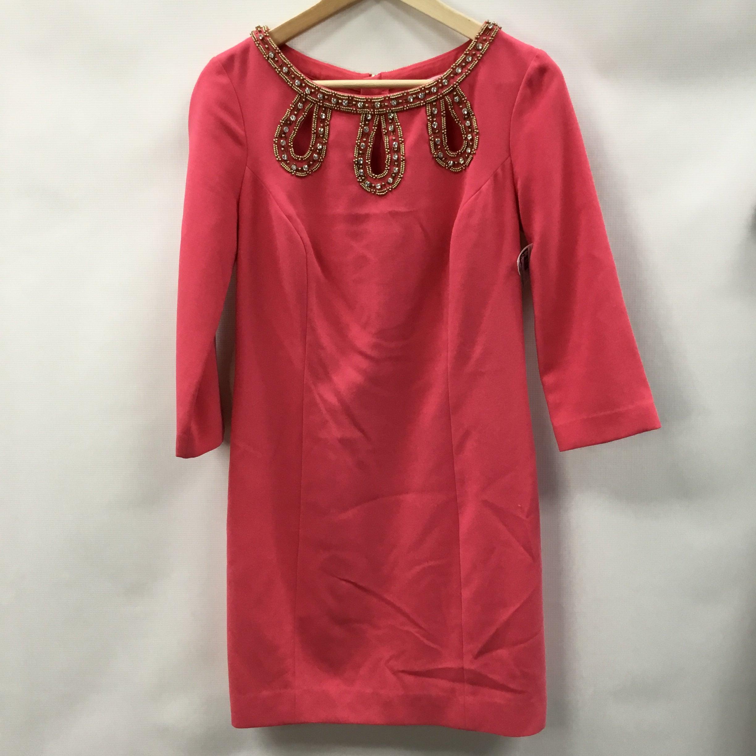 Primary Photo - BRAND: LILLY PULITZER <BR>STYLE: DRESS SHORT LONG SLEEVE <BR>COLOR: PINK <BR>SIZE: S <BR>SKU: 194-194183-24821