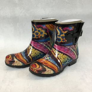 Primary Photo - BRAND: NORDSTROM STYLE: BOOTS RAIN COLOR: MULTI SIZE: 7 OTHER INFO: NEW! NOMAD SKU: 194-194183-22492TURQUOISE MONET DROPLET