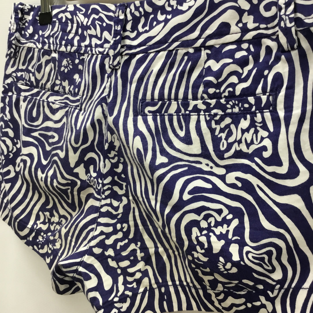 Photo #2 - BRAND: LILLY PULITZER <BR>STYLE: SHORTS <BR>COLOR: WHITE BLUE <BR>SIZE: 6 <BR>SKU: 194-194183-19407