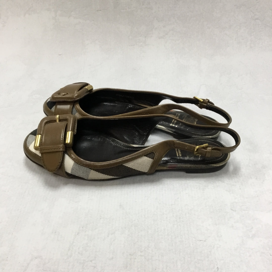 Photo #1 - BRAND: BURBERRY <BR>STYLE: SHOES FLATS <BR>COLOR: BURBERRY PLAID <BR>SIZE: 5 <BR>OTHER INFO: AS IS <BR>SKU: 194-194194-6793
