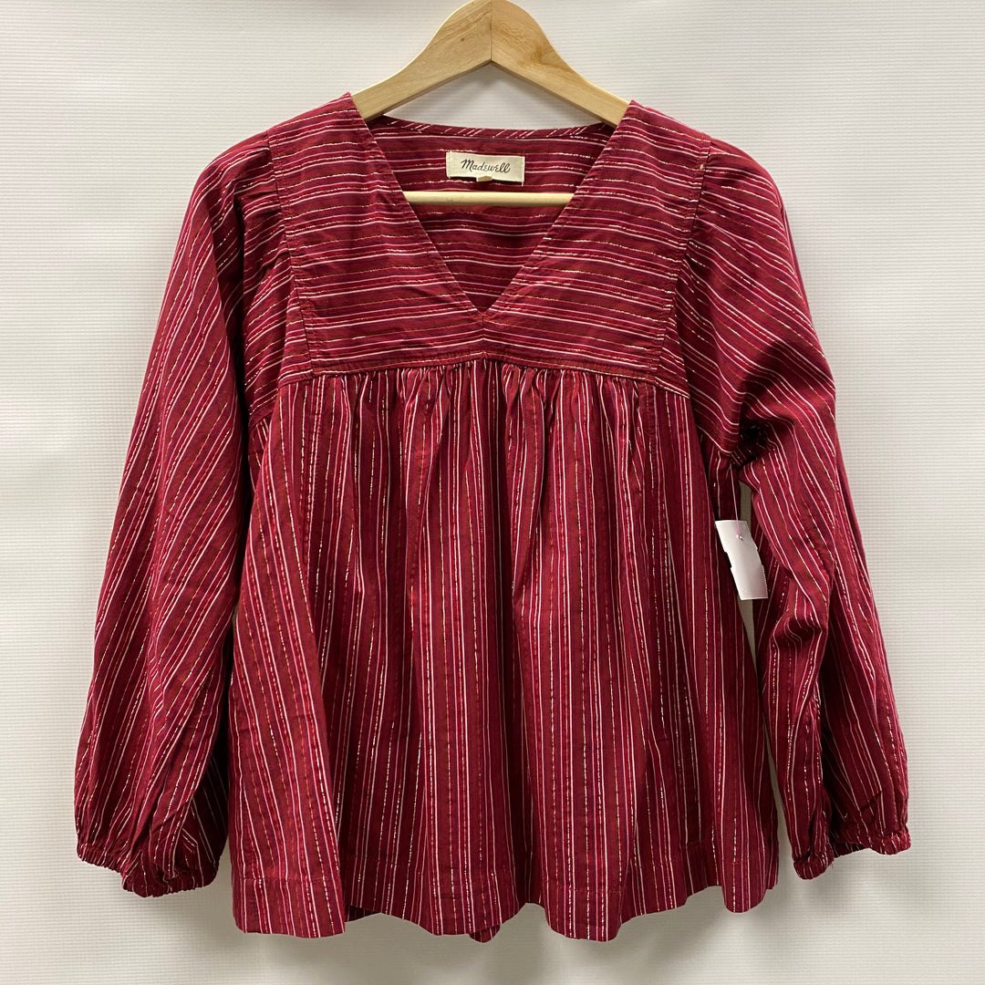 Primary Photo - BRAND: MADEWELL <BR>STYLE: TOP LONG SLEEVE <BR>COLOR: RED <BR>SIZE: S <BR>SKU: 194-194236-1328