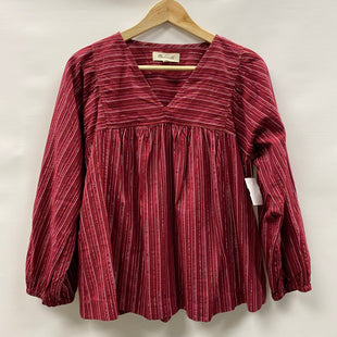 Primary Photo - BRAND: MADEWELL STYLE: TOP LONG SLEEVE COLOR: RED SIZE: S SKU: 194-194236-1328