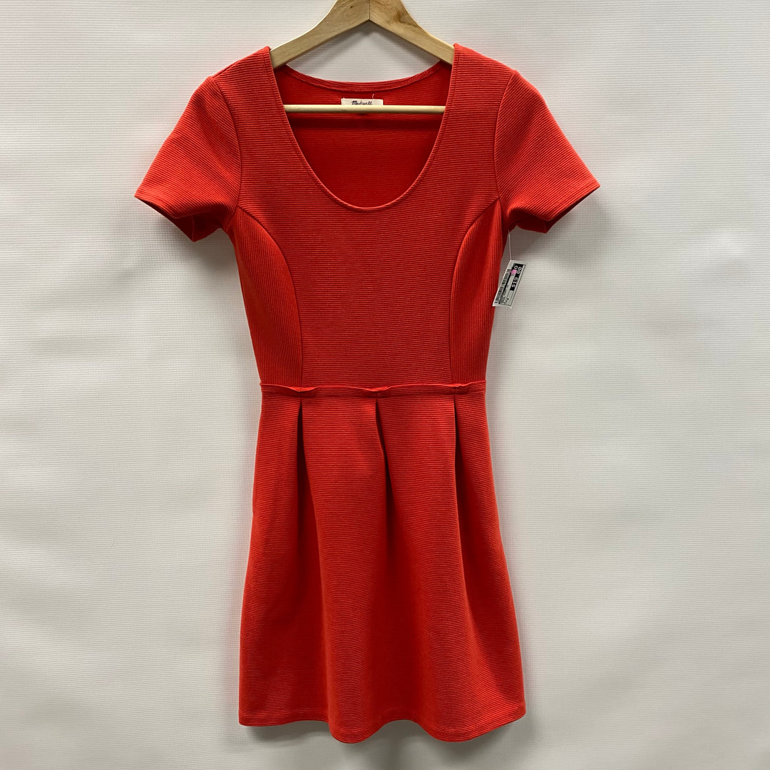 Primary Photo - BRAND: MADEWELL <BR>STYLE: DRESS SHORT SHORT SLEEVE <BR>COLOR: ORANGE <BR>SIZE: 0 <BR>SKU: 194-194238-436