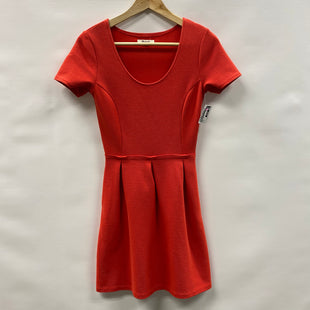 Primary Photo - BRAND: MADEWELL STYLE: DRESS SHORT SHORT SLEEVE COLOR: ORANGE SIZE: 0 SKU: 194-194238-436