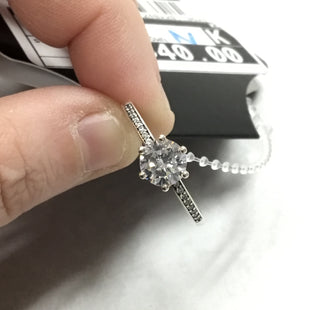Primary Photo - BRAND: PANDORA STYLE: RING COLOR: SILVER OTHER INFO: CLEAR SPARKLING CROWN SKU: 194-194220-3972