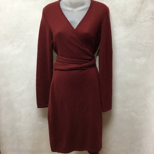 Primary Photo - BRAND: DIANE VON FURSTENBERG STYLE: DRESS SHORT LONG SLEEVE COLOR: MAROON SIZE: M OTHER INFO: AS IS - PILLINGSKU: 194-194229-3587