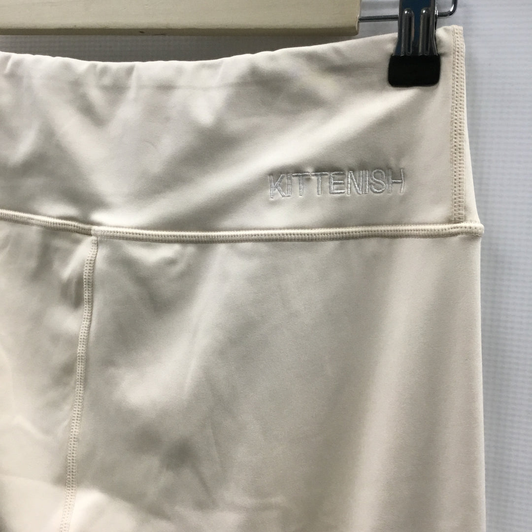 Photo #2 - BRAND:    CLOTHES MENTOR <BR>STYLE: ATHLETIC PANTS <BR>COLOR: CREAM <BR>SIZE: M <BR>OTHER INFO: KITTENISH - <BR>SKU: 194-194224-654