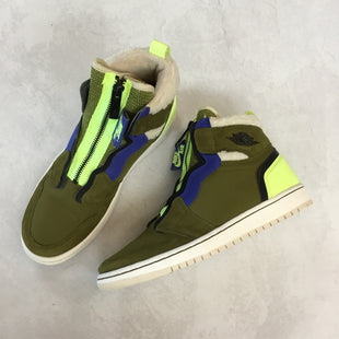 Primary Photo - BRAND: NIKE STYLE: SHOES ATHLETIC COLOR: OLIVE SIZE: 8 OTHER INFO: AIR JORDAN 1 HIGH ZIP UP SKU: 194-194225-3604