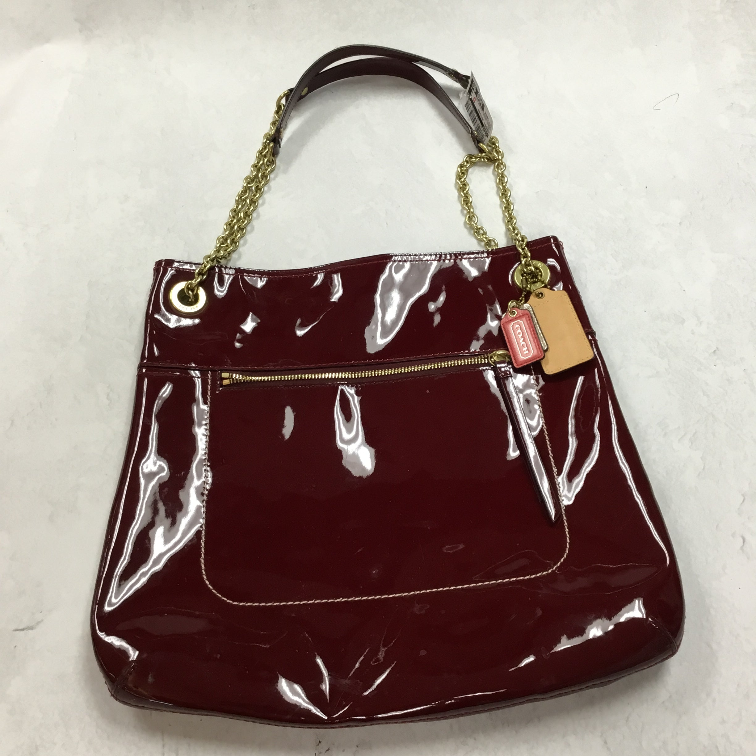 Primary Photo - BRAND: COACH <BR>STYLE: HANDBAG DESIGNER <BR>COLOR: RED <BR>SIZE: LARGE <BR>OTHER INFO: POPPY PATENT LEATHER TOTE <BR>SKU: 194-194183-21184