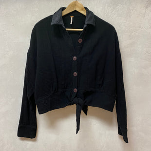 Primary Photo - BRAND: FREE PEOPLE STYLE: TOP LONG SLEEVE COLOR: BLACK SIZE: M SKU: 194-194229-4465