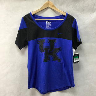 Primary Photo - BRAND: NIKE APPAREL STYLE: ATHLETIC TOP SHORT SLEEVE COLOR: BLUE SIZE: XL SKU: 194-194197-13233