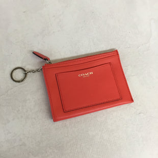 Primary Photo - BRAND: COACH STYLE: COIN PURSE COLOR: NEON RED/ HOT CORALSIZE: SMALL SKU: 194-194194-6015