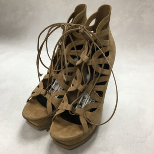 Primary Photo - BRAND: YVES SAINT LAURENT STYLE: SANDALS HIGH COLOR: TAN SIZE: 10.5 OTHER INFO: LACE UP CUT OUT PLATFORM SANDAL- AS IS SKU: 194-19414-36297