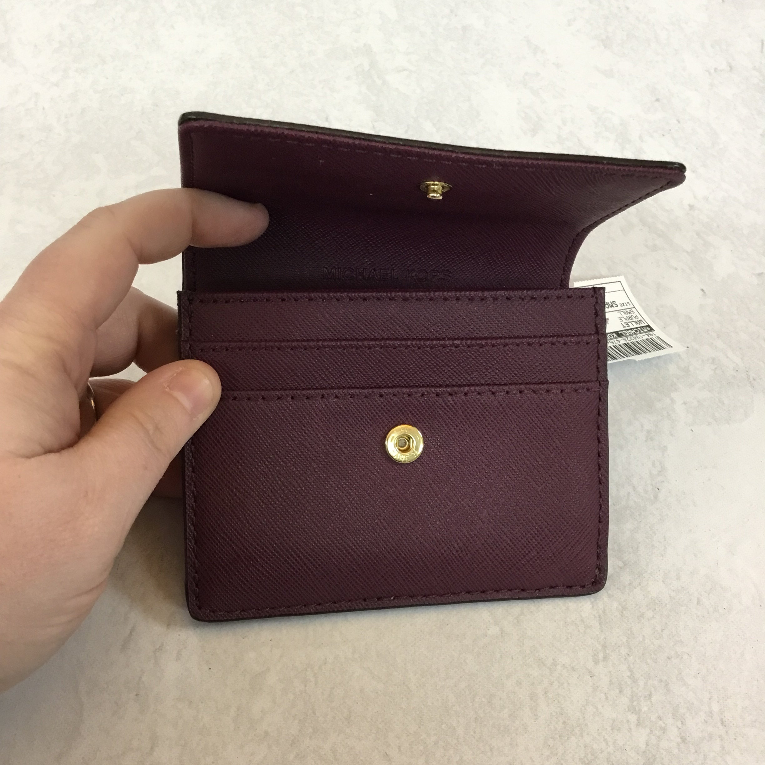 Photo #3 - BRAND: MICHAEL KORS <BR>STYLE: WALLET <BR>COLOR: PURPLE <BR>SIZE: SMALL <BR>SKU: 194-194224-476