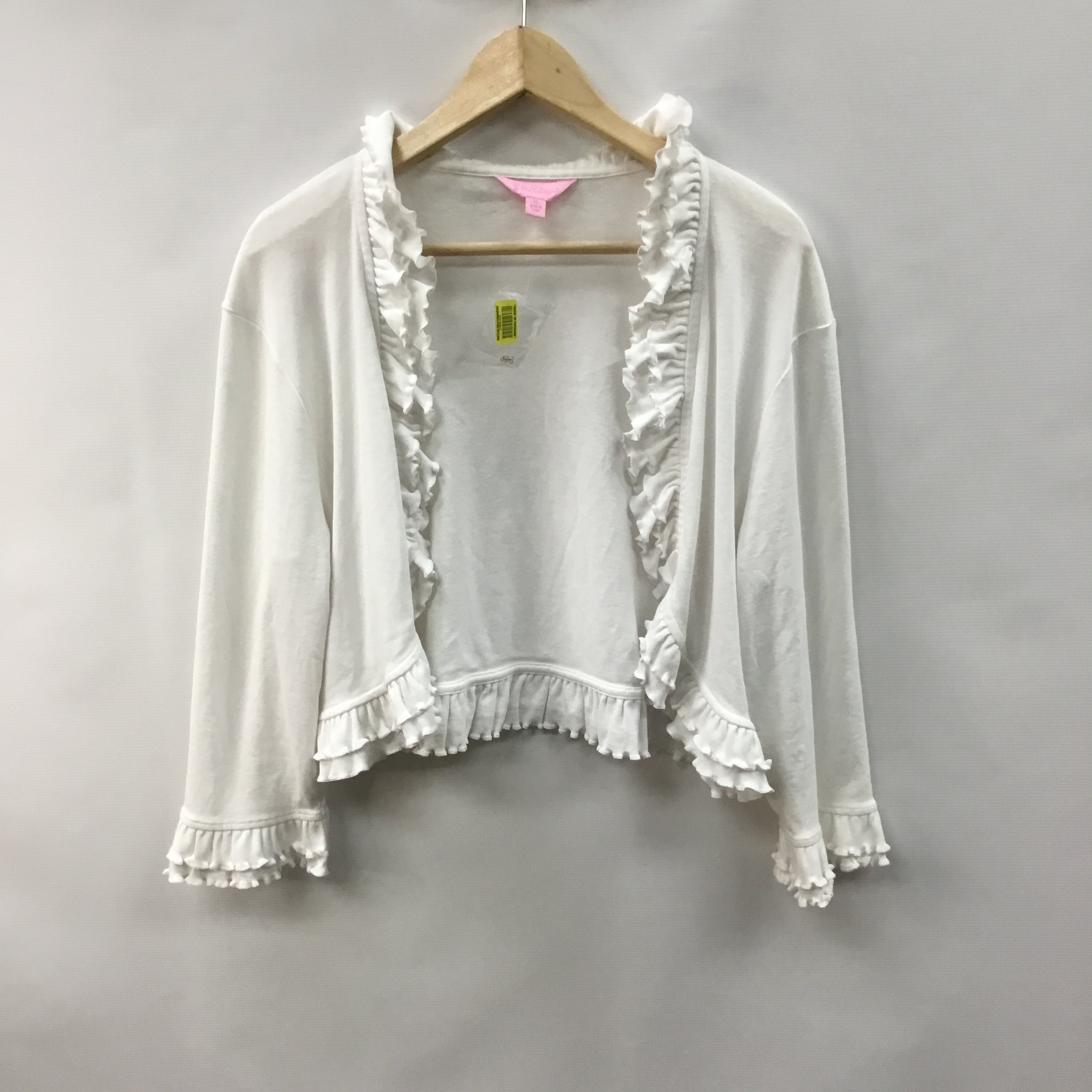 Primary Photo - BRAND: LILLY PULITZER <BR>STYLE: SWEATER CARDIGAN LIGHTWEIGHT <BR>COLOR: WHITE <BR>SIZE: XL <BR>SKU: 194-194220-5523