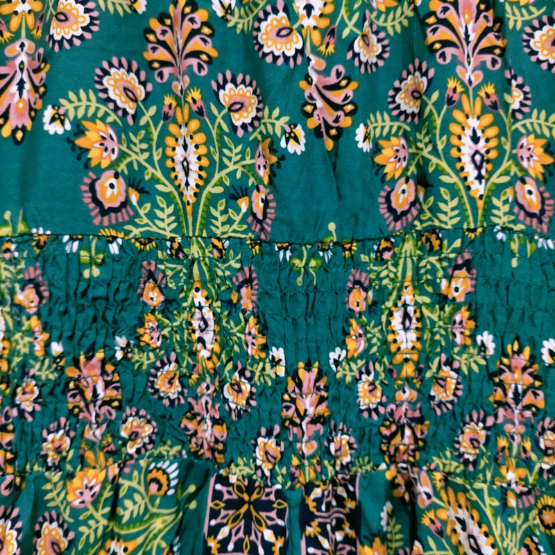 Indiana Maxi Dress Emerald Jewels Print by Jaase