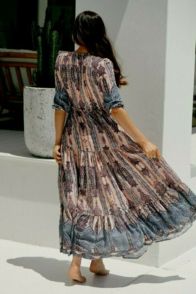 Tessa Maxi Dress Carribean Print by Jaase