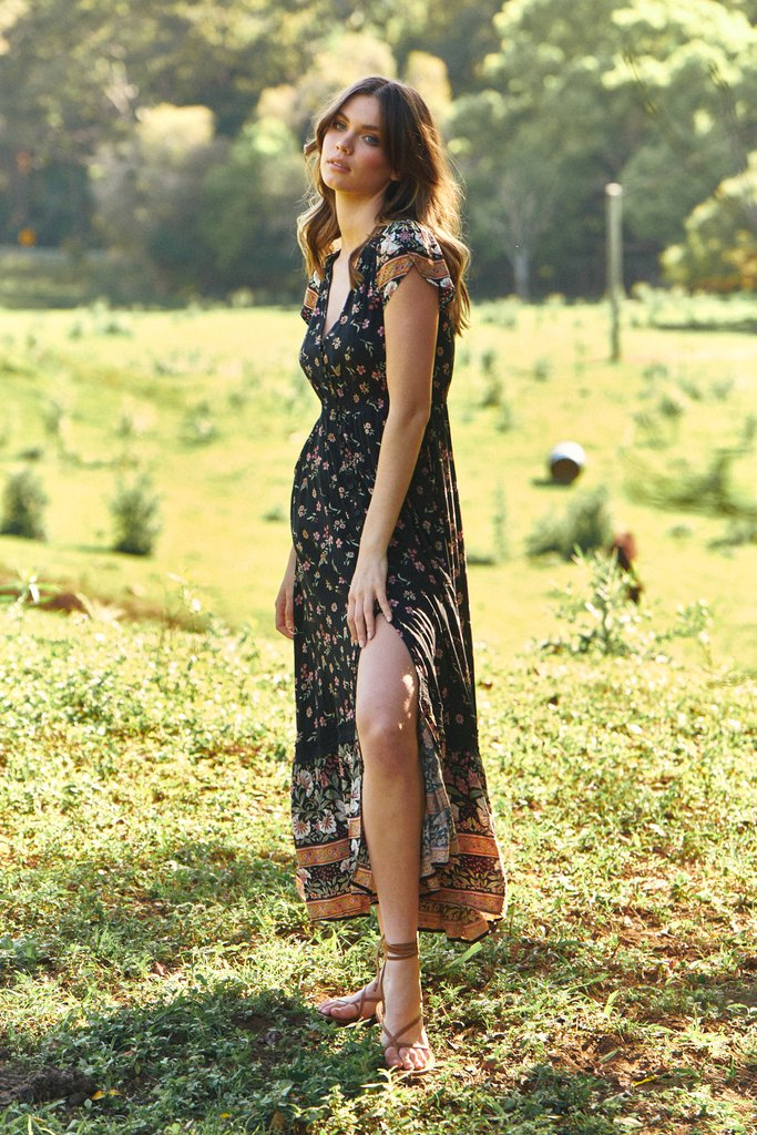 Carmen Maxi Dress Eternity Print by Jaase
