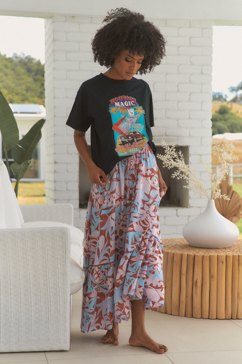 Daphne Maxi Skirt in Neapolitan print by Jaase