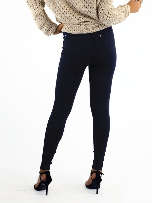 Ava Mia Jegging High Waisted in Plain - Black - Kenzie Tenzie