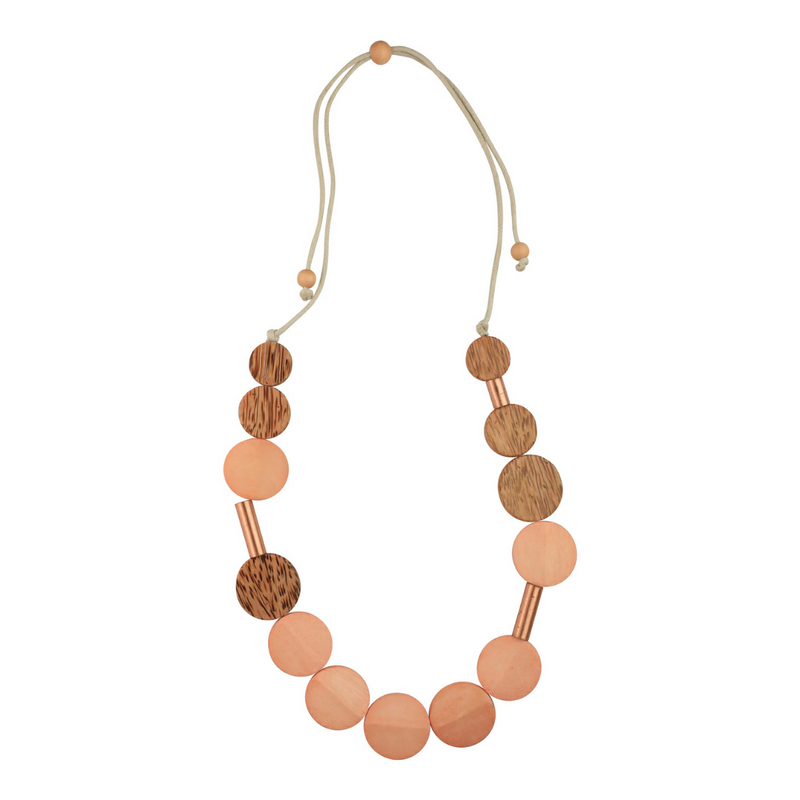 Rose Gold Two Tone Detail Necklace - Rose - Kenzie Tenzie