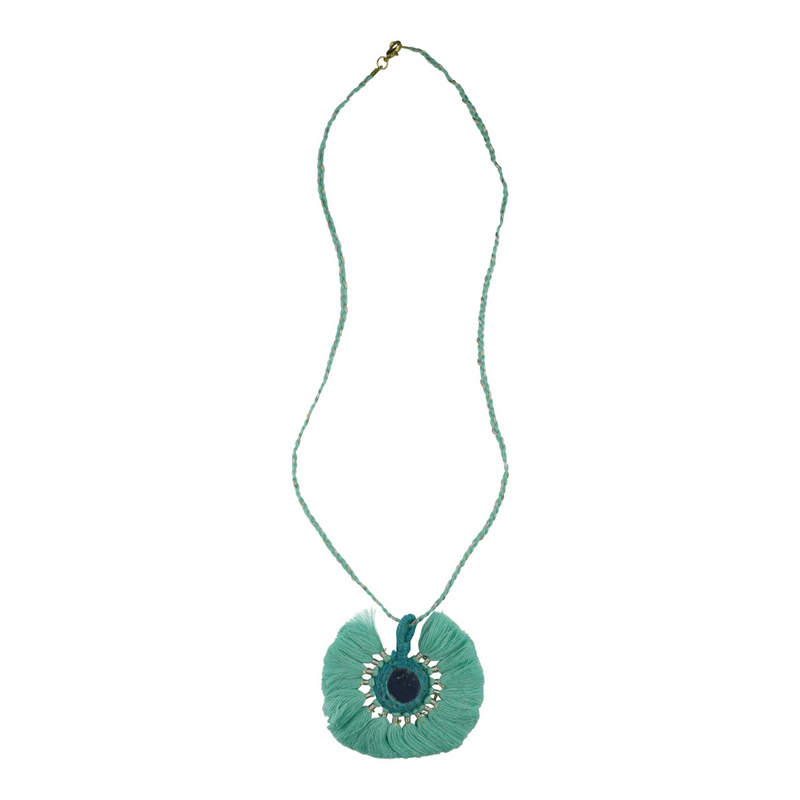 Plait Tassle Detail Necklace - Mint - Kenzie Tenzie
