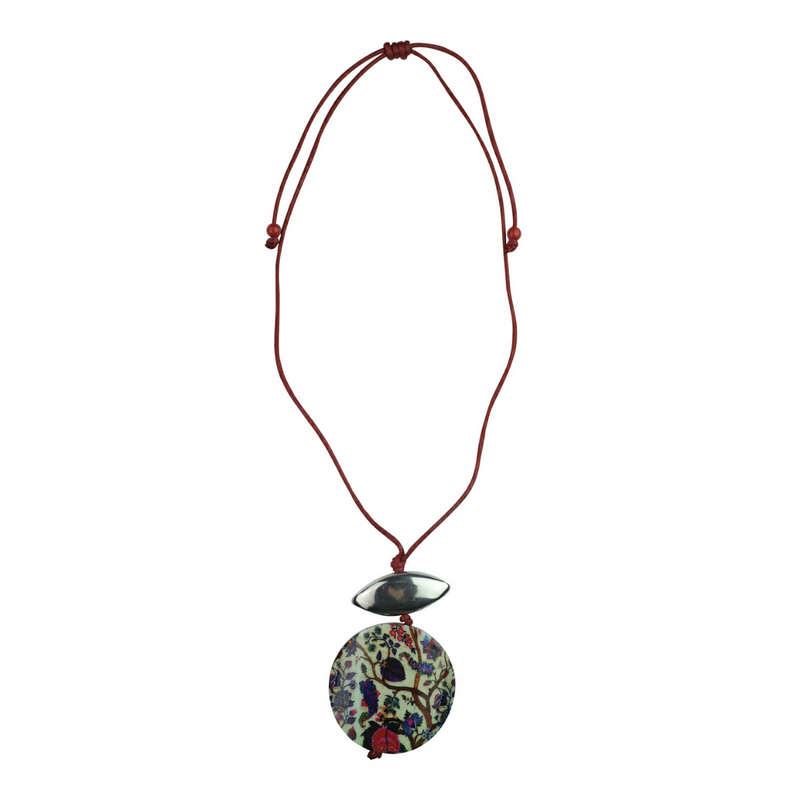 Blossom Garden Necklace - Red - Kenzie Tenzie