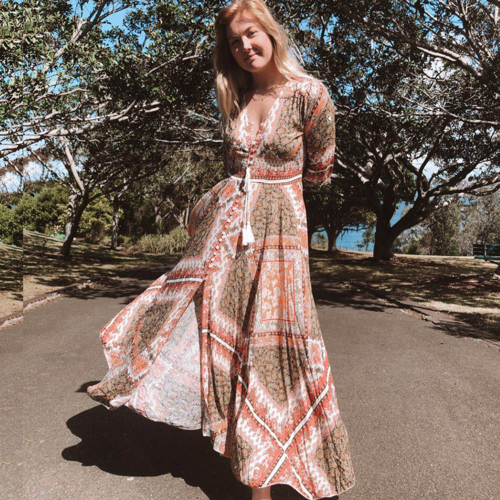 Jaase Indiana Maxi Dress Estelle Print - Kenzie Tenzie