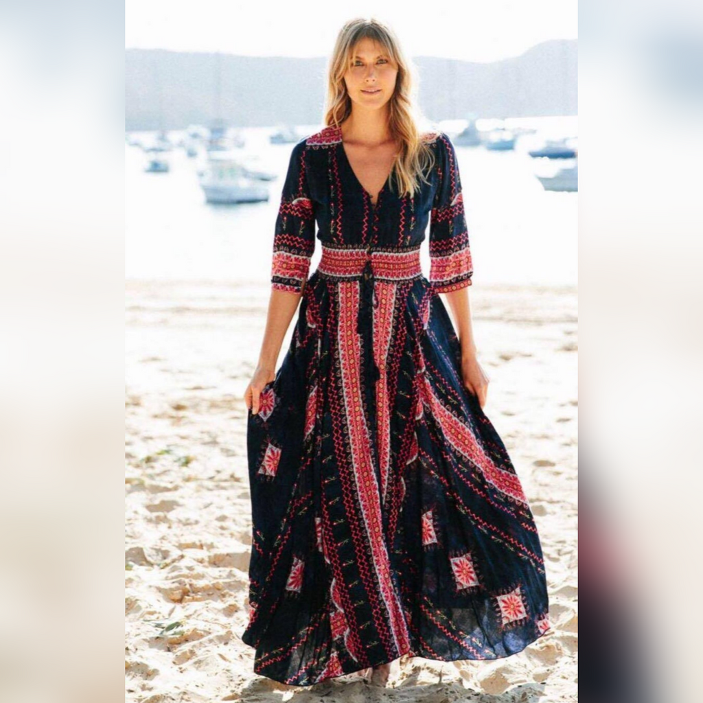 Jaase Indiana Maxi Dress Nightdream Print - Kenzie Tenzie