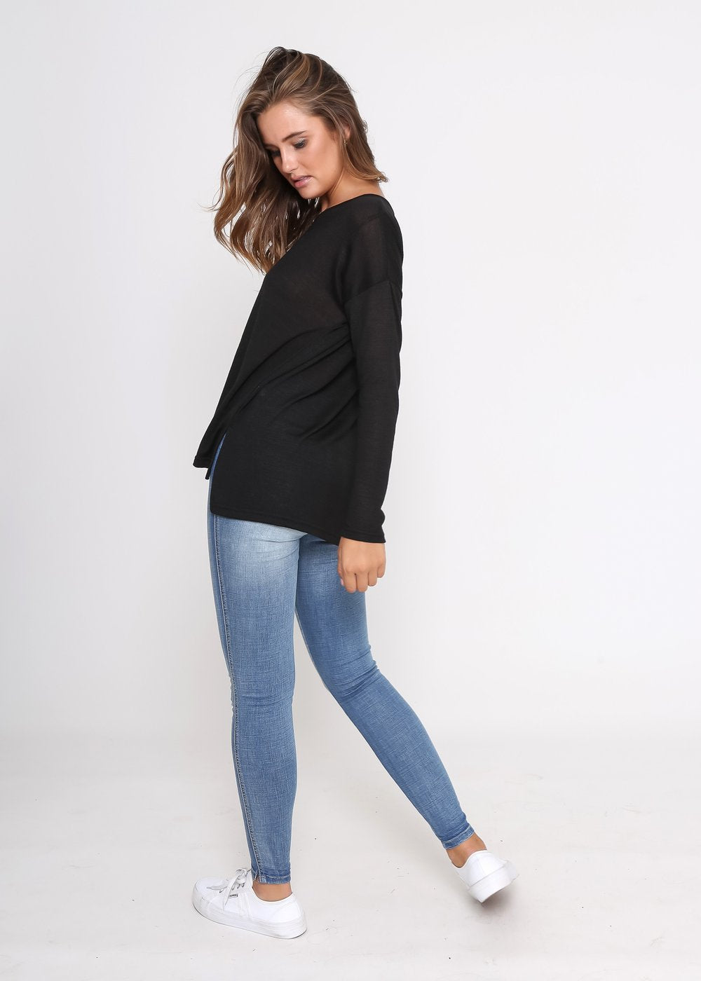 Milly Knit Top - Black - Kenzie Tenzie