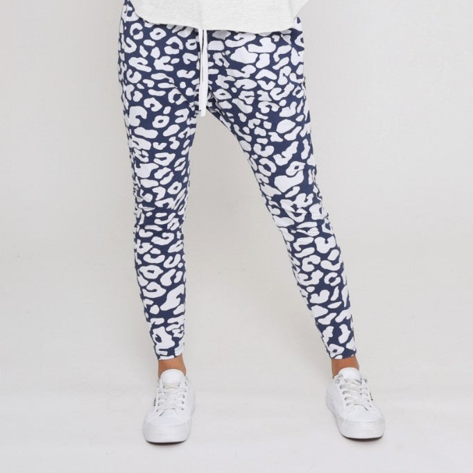 Jordan Drop Crutch Slouch Jogger Pants - Ink and White Leopard